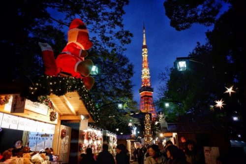 Christmas Market near Tokyo Tower