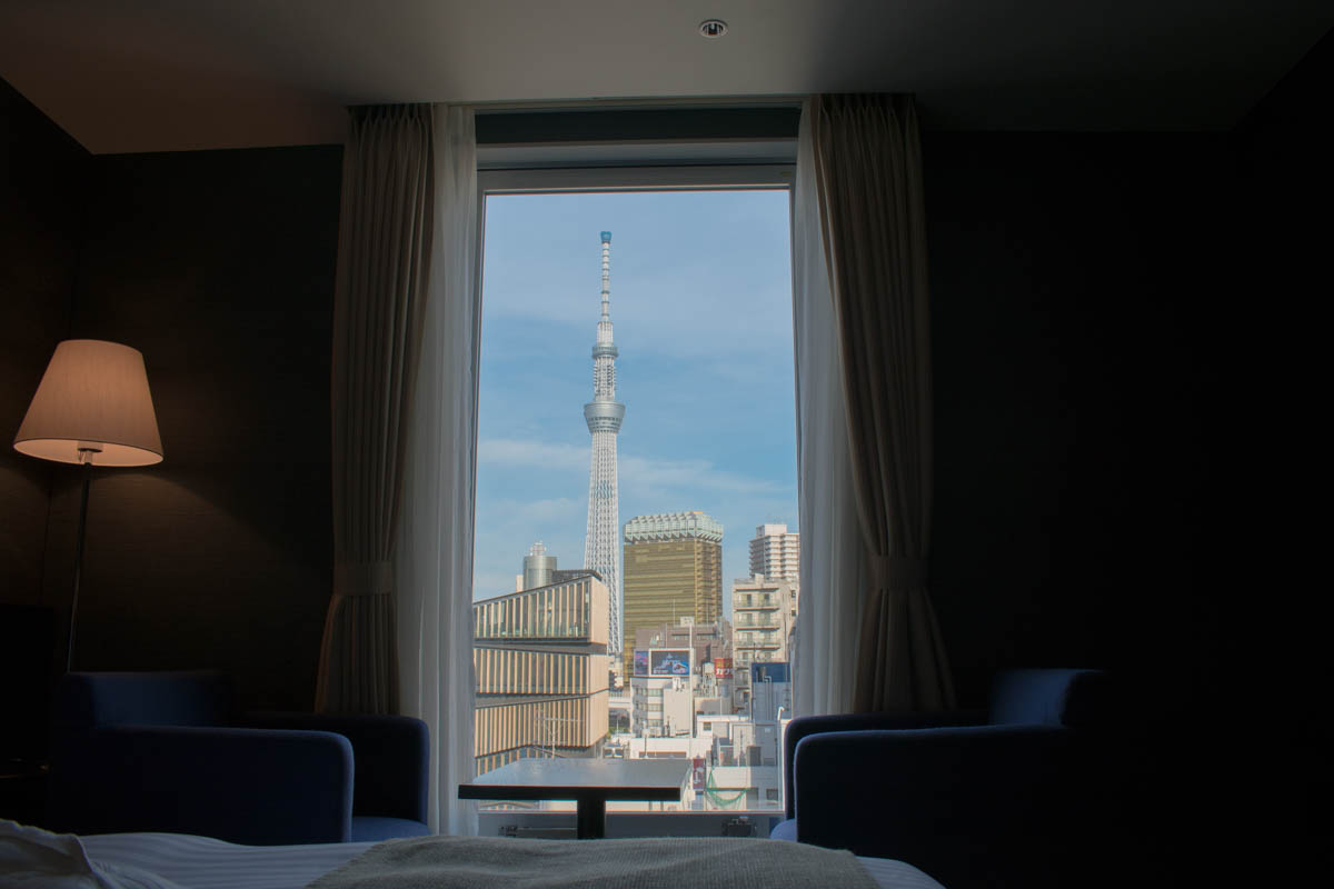 The Gate Hotel Kaminarimon room view
