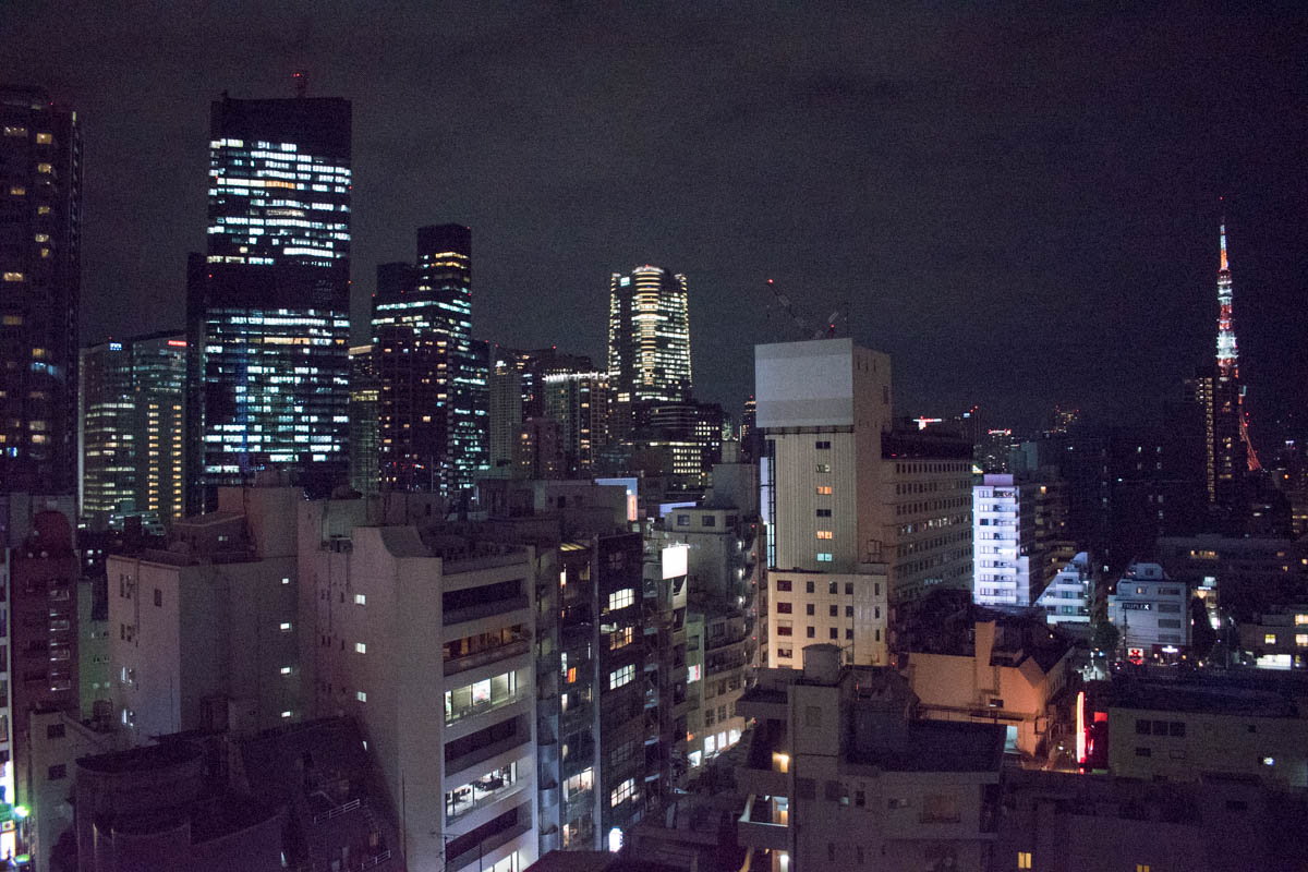 Candeo Hotels Tokyo Roppongi Room Night View
