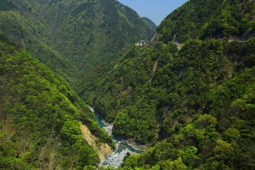 新緑とホテル祖谷温泉